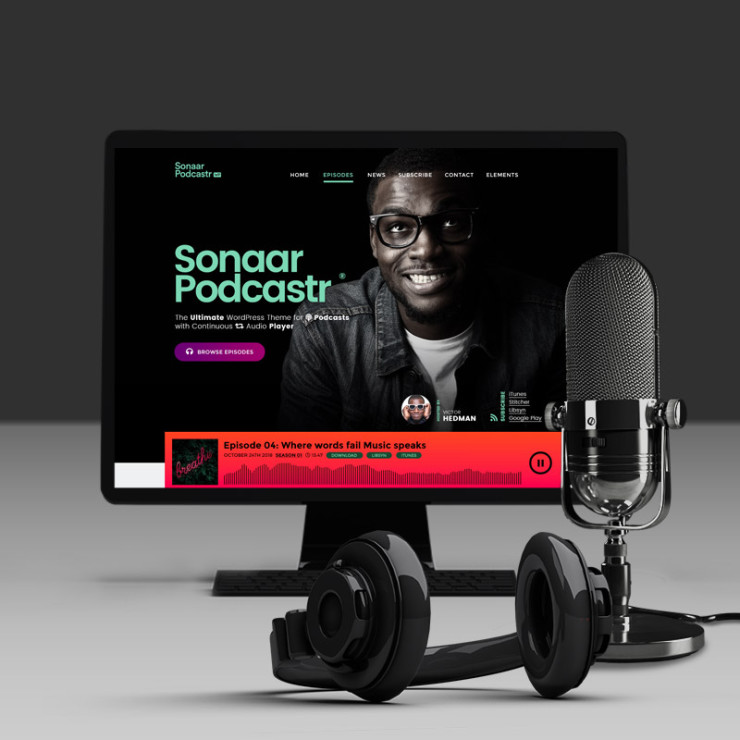 Podcast WordPress theme by Sonaar