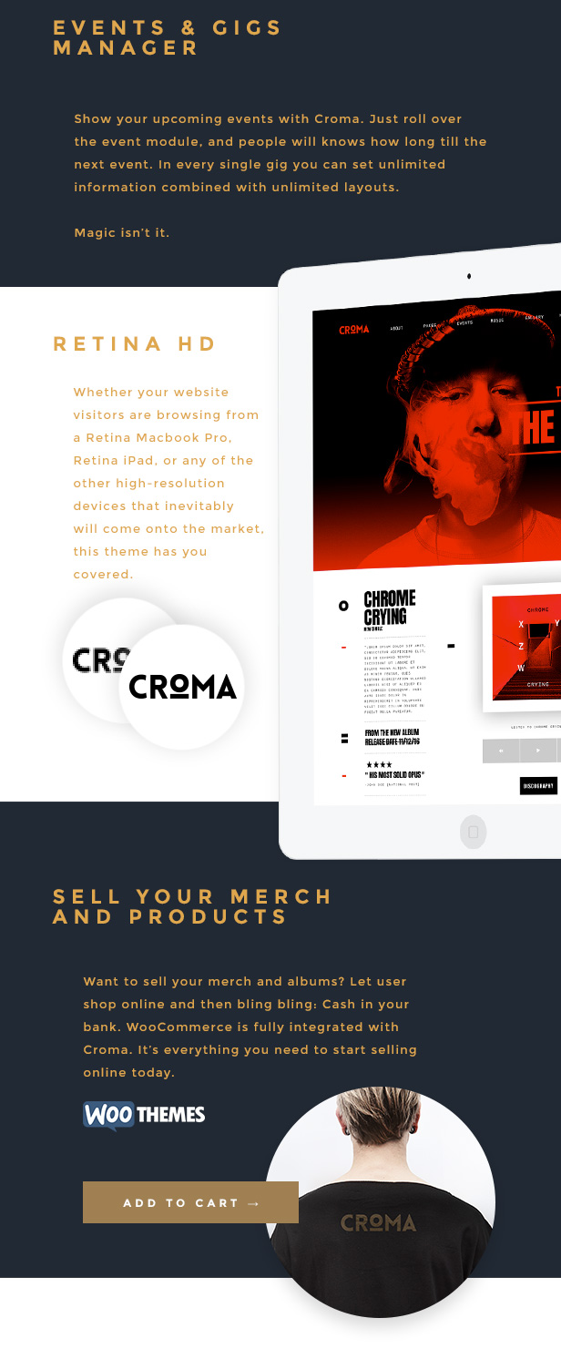 Croma - Responsive Music WordPress Theme