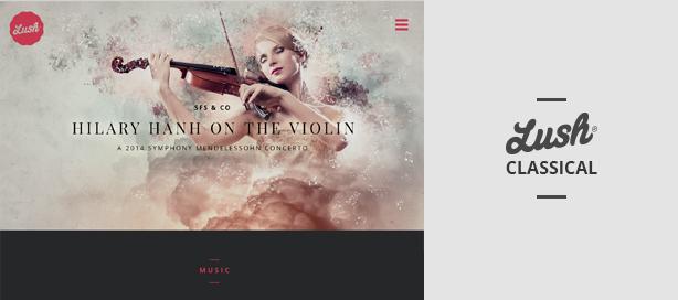 marketing lush classical - Lush - Music Band & Musician WordPress Theme