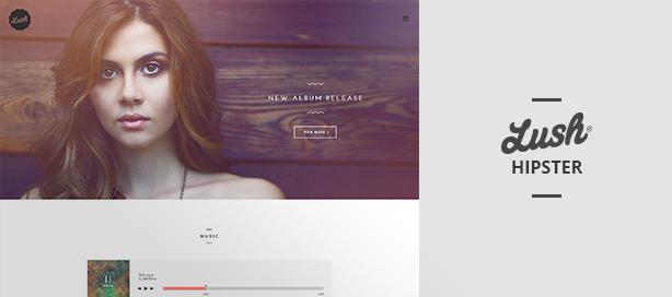 marketing lush hipster - Lush - Music Band & Musician WordPress Theme
