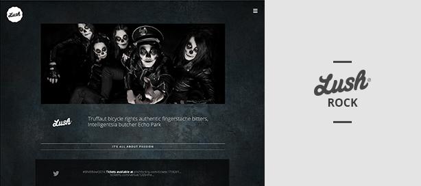 marketing lush rock - Lush - Music Band & Musician WordPress Theme